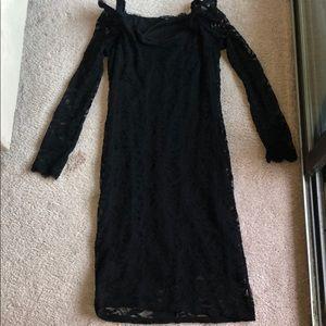 Marina Black Lace long sleeves Dress size 14